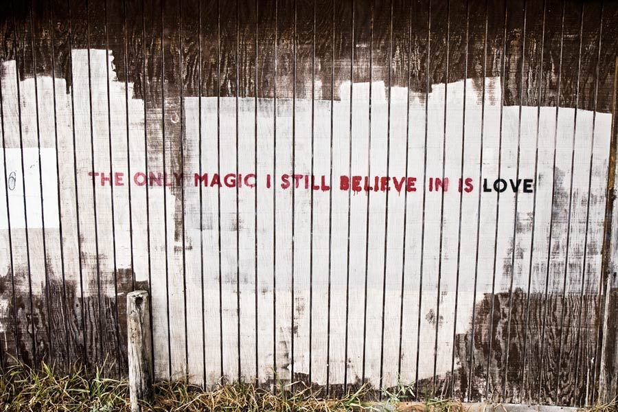 No Profit: THE ONLY MAGIC I STILL BELIEVE IN IS LOVE