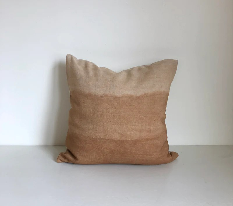 amber gradient 18x18 pillow cover