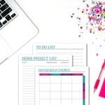 Printable Household Planner Set