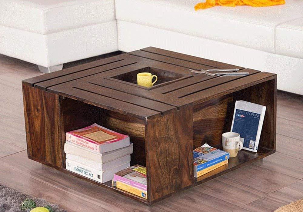Driftingwood Solid Sheesham Wood Coffee Table For Living Room Center Driftingwood