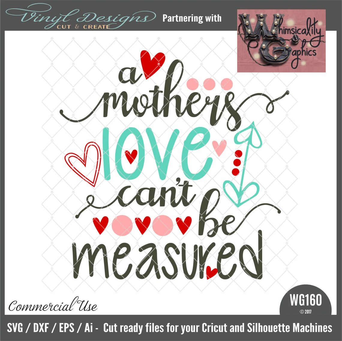 Download A Mother's Love Can't Be Measured Cut File WG160 - SVG ...