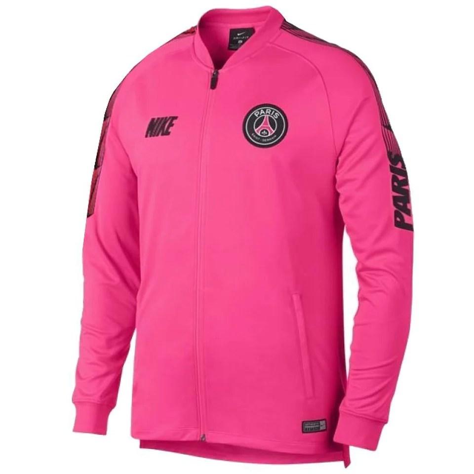 paris saint germain pink presentation soccer tracksuit 2019 nike