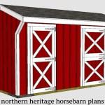 10x16 Horse Barn Plan With Added Tack Room Bonus 1 10x10 Stall 1 10 Northern Heritage Horsebarn Plans