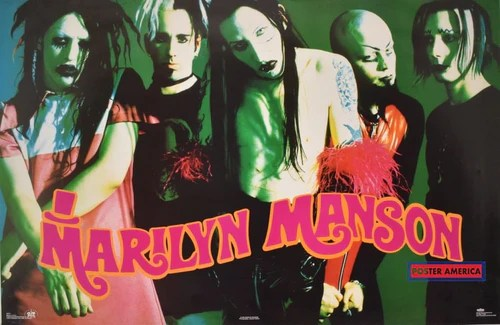 tagged marilyn manson poster