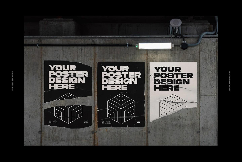 urban poster wall mockups flyerwrk