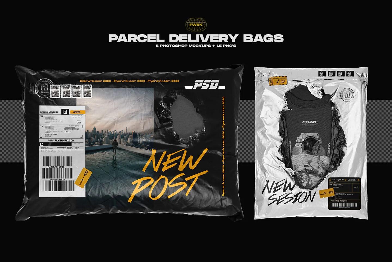 Free bag mockups in psd, free packaging psd mockups free paper bag psd mockup in 4k. Parcel Delivery Bag Mockups Flyerwrk