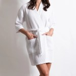Women S Waffle Kimono Short White Bathrobe Wholesale Bathrobes Spa Robes Kids Robes Cotton Robes Robesnmore