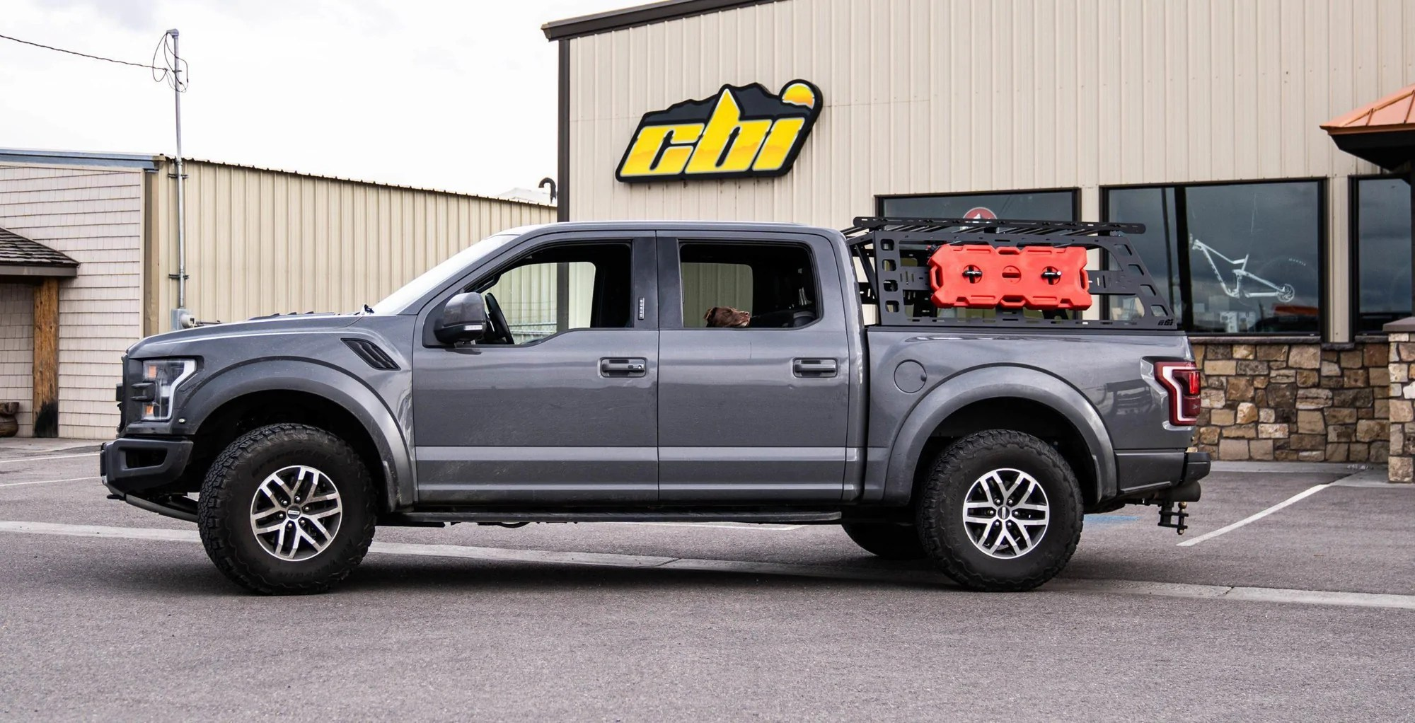 cbi offroad cab height bed rack ford raptor 2017 2020