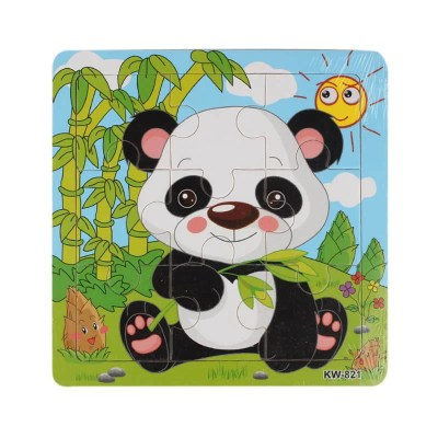 Cute Animals Wooden Educational Jigsaw Toys For Chidlren Kids Education And Learning Puzzles Toys for Girls Boys 9 PCS Or 16 PCS