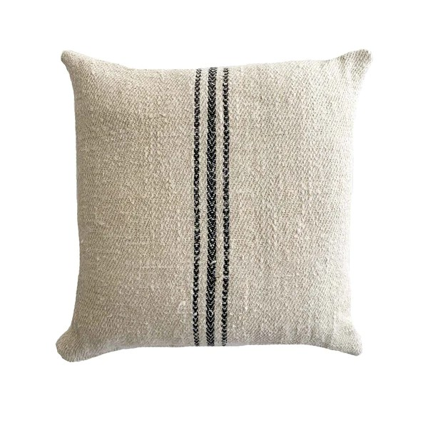 antique grain sack pillows with timeless character