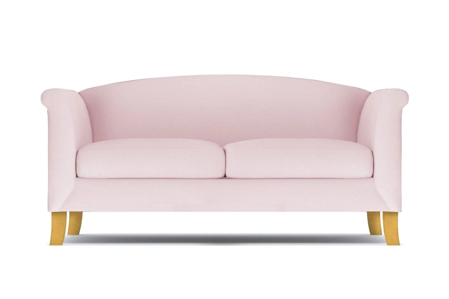 Albright Loveseat - Pink Velvet -  Small Space Modern Couch Made in the USA - Sold by Apt2B