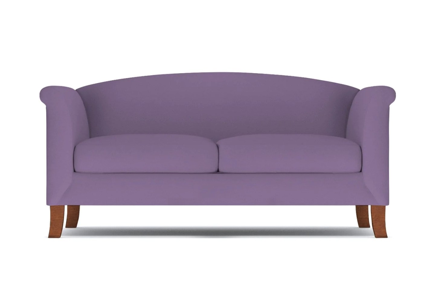 Albright Loveseat - Purple Velvet -  Small Space Modern Couch Made in the USA - Sold by Apt2B
