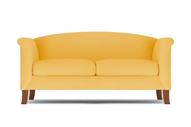 Albright Apartment Size Sofa - Yellow Velvet -  Small Space Modern Couch Made in the USA - Sold by Apt2B