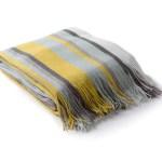 Redondo Striped Throw Blue Modern Bed And Sofa Throw Blankets Apt2b