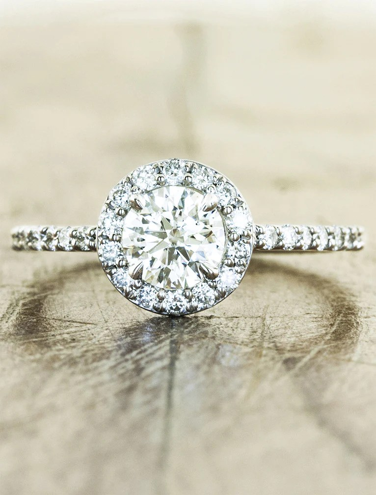Charlotte Stunning Round Halo Engagement Ring Ken