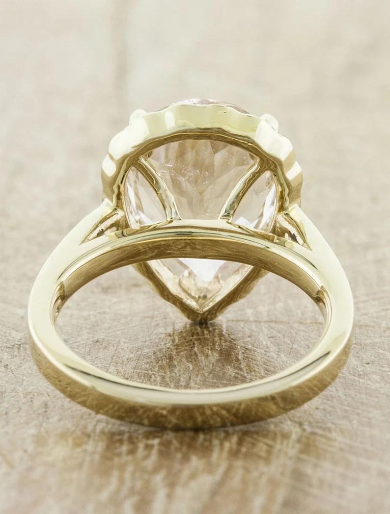 Linley Pear Shaped Morganite Engagement Ring Ken Amp Dana