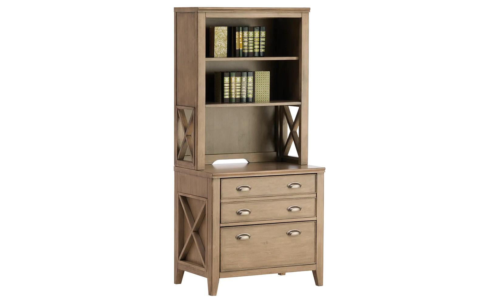 Camden Lateral File Cabinet And Bookcase Hutch