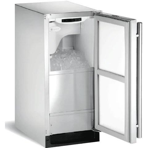 u line outdoor ice machine stainless steel