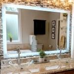 Side Lighted Led Bathroom Vanity Mirror 48 X 32 Rectangular Mirrors Marble