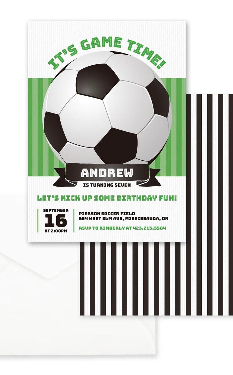 soccer birthday party invitation arra creative