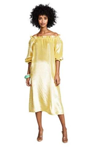 Cynthia Rowley Women's Off The Shoulder Long Sleeve Dress