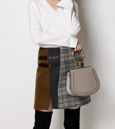 few moda plaid skirt