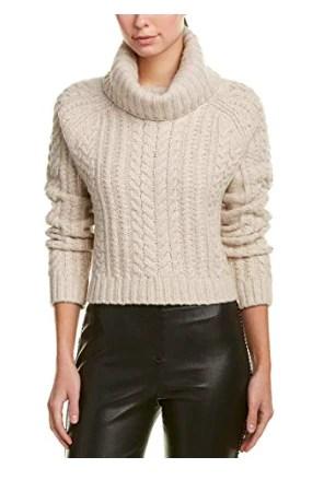 alice + olivia Womens Tobin Wool-Blend Sweater
