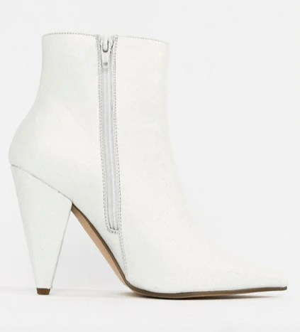 asos white ankle boot