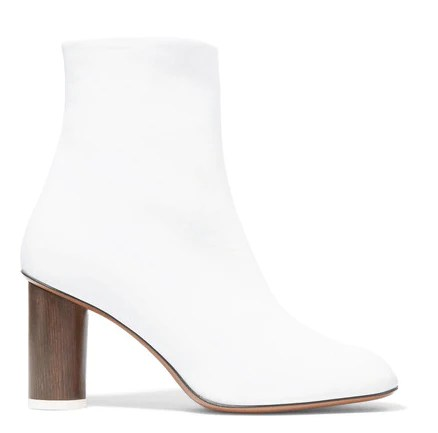 modern white ankle boot