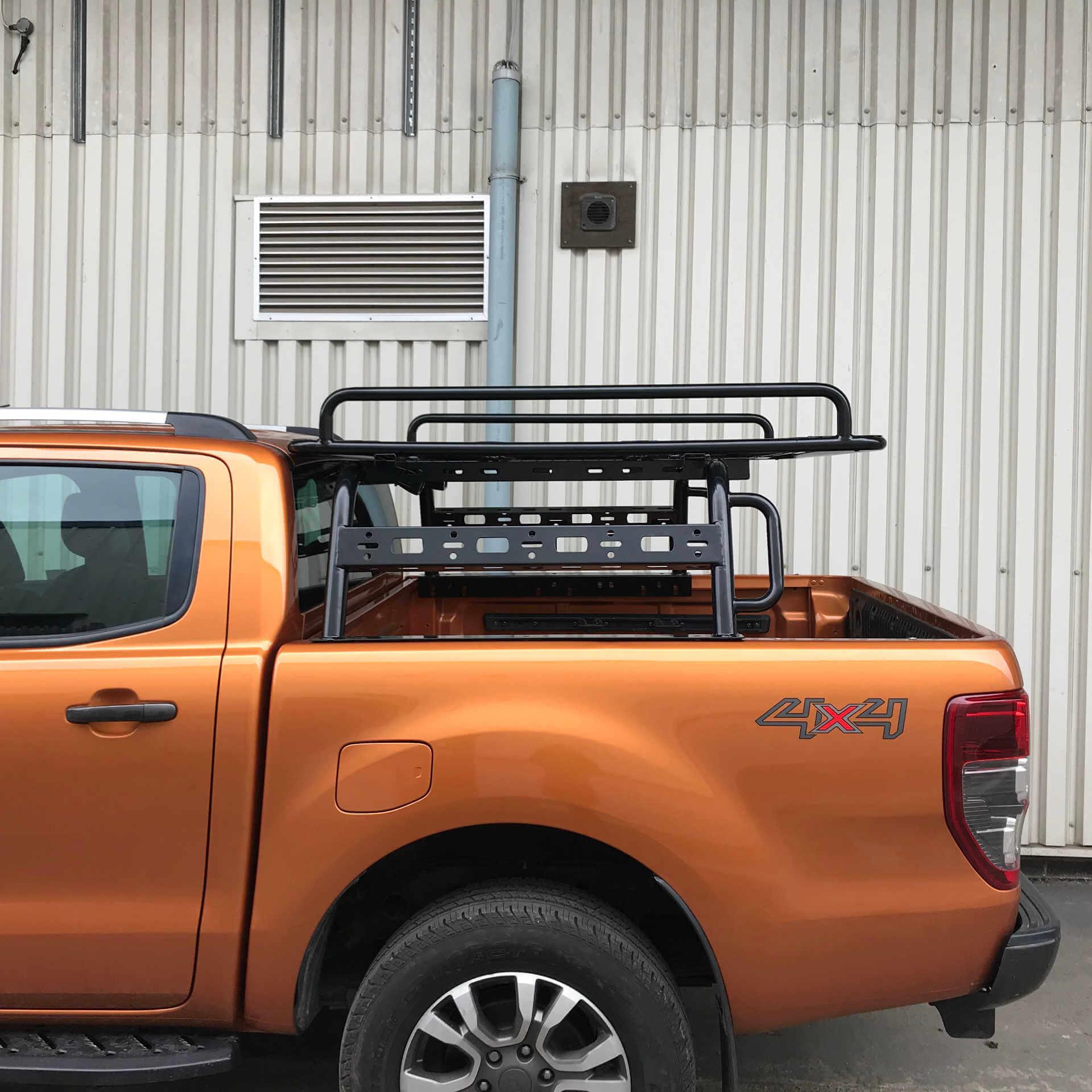 adjustable load bed cargo frame with side rail rack for mitsubishi l200