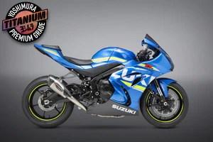 gsx r1000 17 21 race alpha t titanium full exhaust w titanium muffler