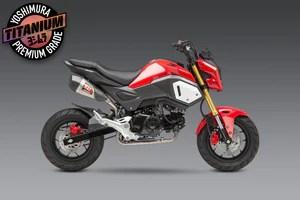 grom 14 20 race rs 9t high mount titanium full exhaust w titanium muffler