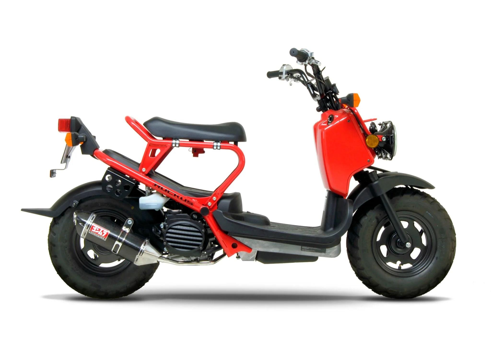 ruckus zoomer 03 20 race trc stainless full exhaust w carbon fiber muffler