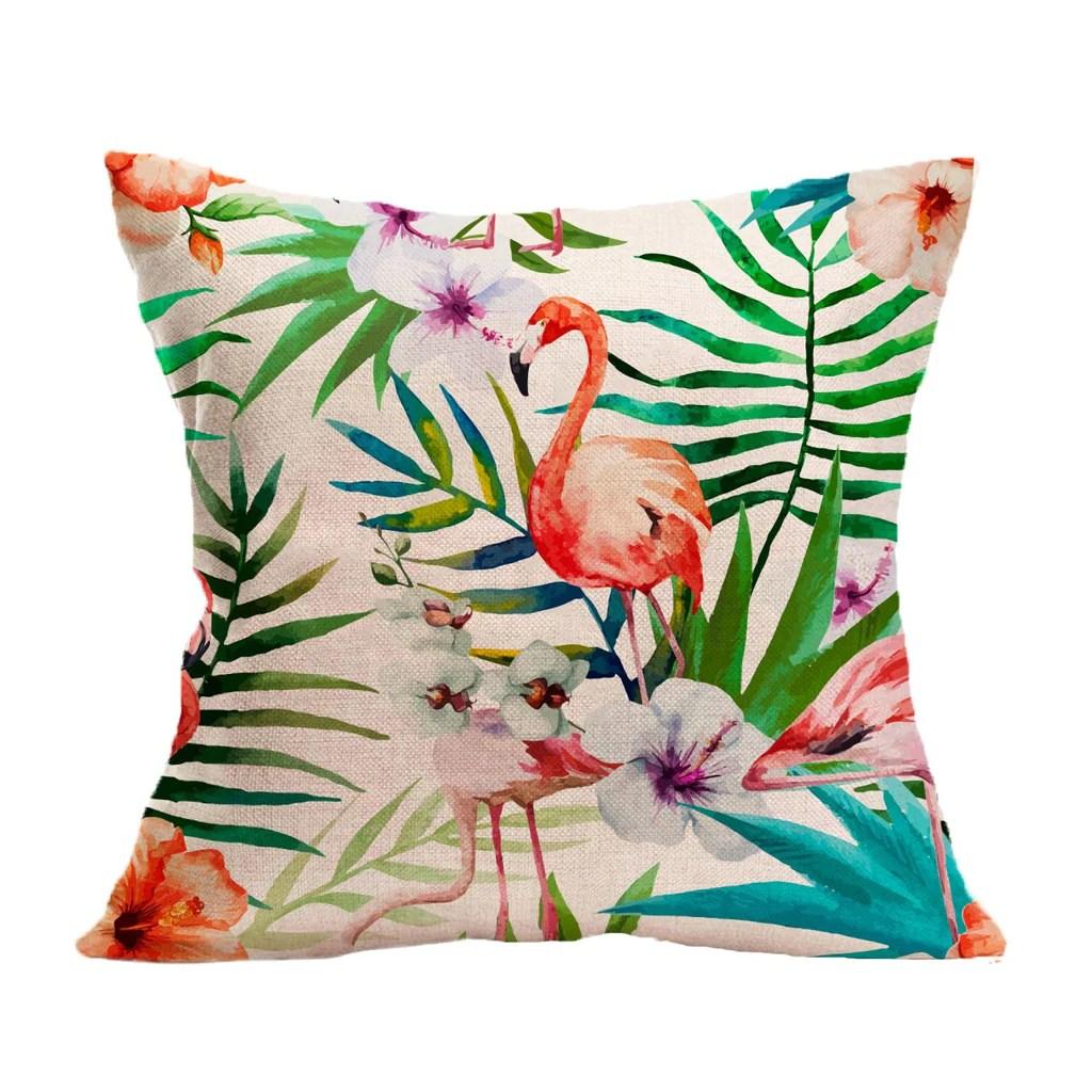 summer flamingo pillow case dealsboutiq
