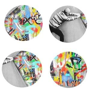 behind the curtain graffiti art painting