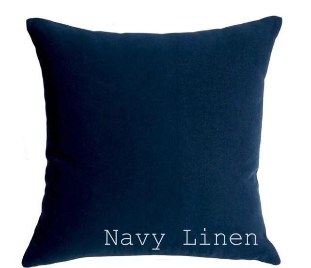 solid linen pillow cover navy linen pillow cream linen throw pillow belgian linen pillow cover yellow pillow case