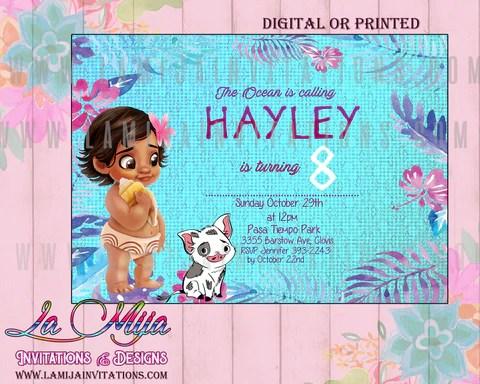 moana birthday invitation moana invitations moana first birthday baby moana invitations baby moana party invites baby moana birthday party ideas
