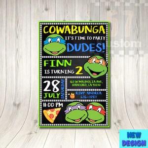 tmnt birthday invitation tmnt