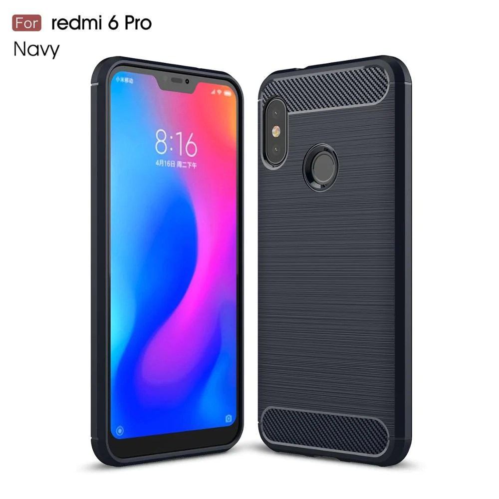Case For Xiomi Xiaomi Mi A2 Lite Case Carbon Fiber Cover For Xiaommi Redmi 6 Pro Case For Redmi 6 6a Case Fundas