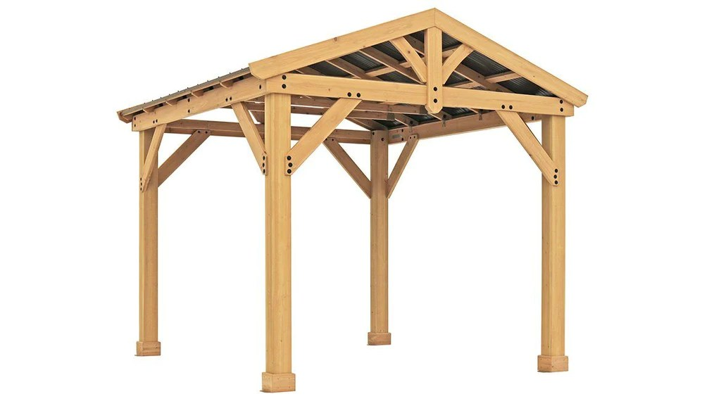 Yardistry 10x10 Tuscan Pavilion 100% Cedar with Aluminum ... on Yardistry Backyard Pavilion id=67751