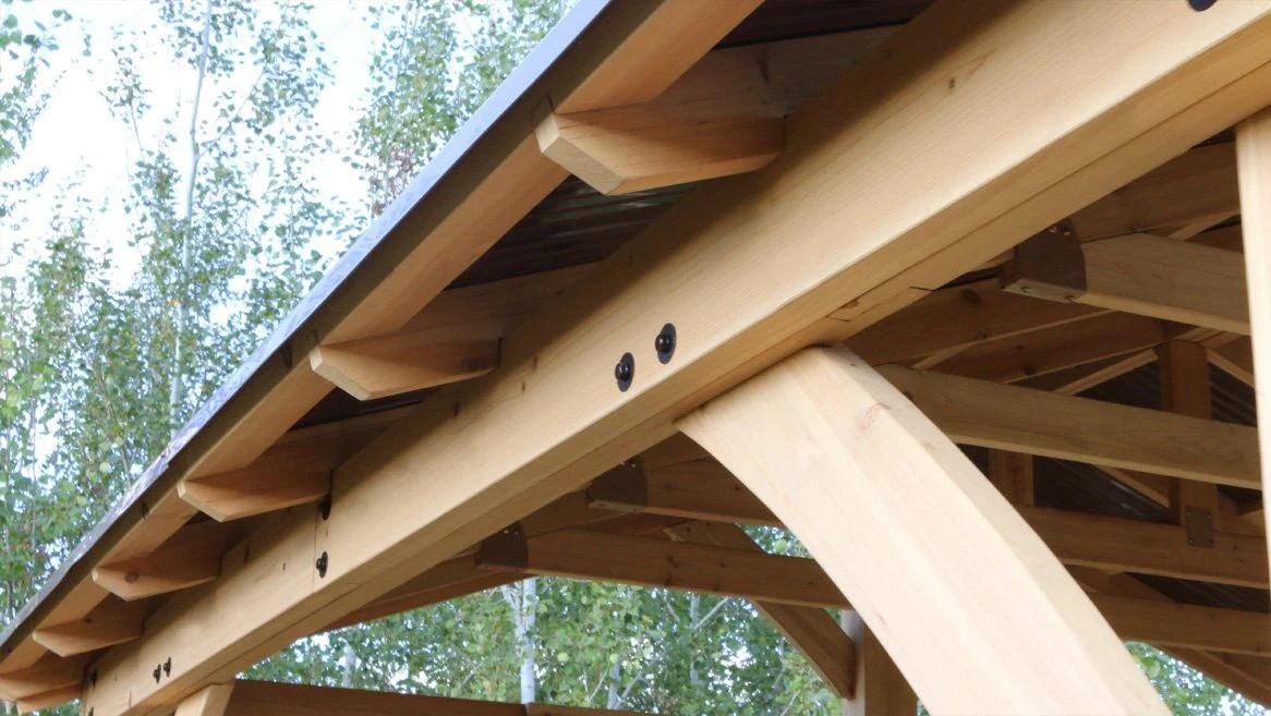 Yardistry 11 x 13 Carolina Pavilion 100% Cedar with ... on Yardistry Backyard Pavilion id=35072