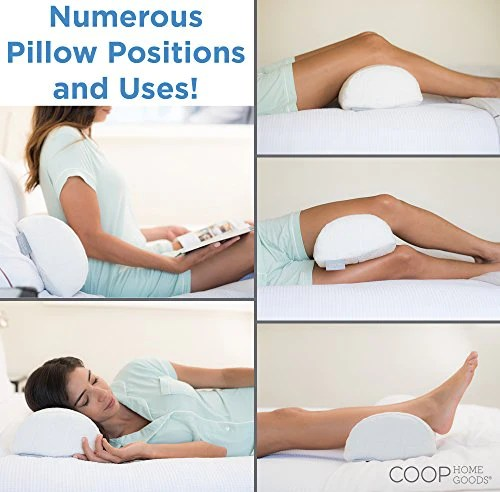 half moon bolster wedge memory foam support pillow with removable cover