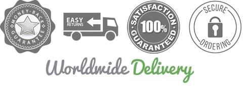 worldwide delivery - guarantee satisfaction