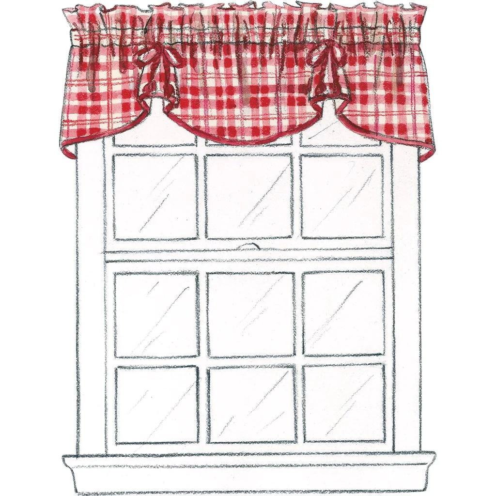 mccall s pattern m4408 window essentials valances and panels