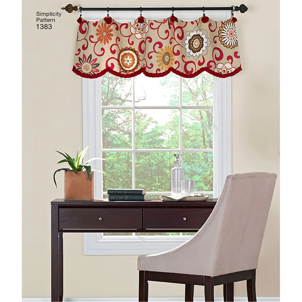 simplicity pattern 1383 valances for 36 to 40 wide windows