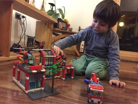 Big Fire Station Model Building Blocks