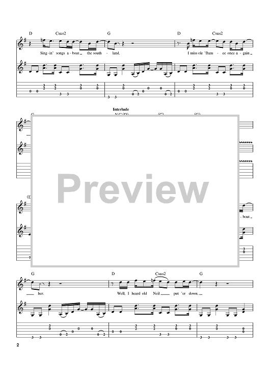 Huge selection of 500,000 tabs. Sweet Home Alabama Quot Sheet Music By Lynyrd Skynyrd Alabama For Guitar Tab Sheet Music Now