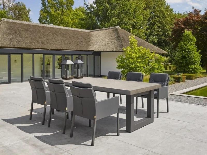 newport premium ceramic concrete dining table 300 x 100cm