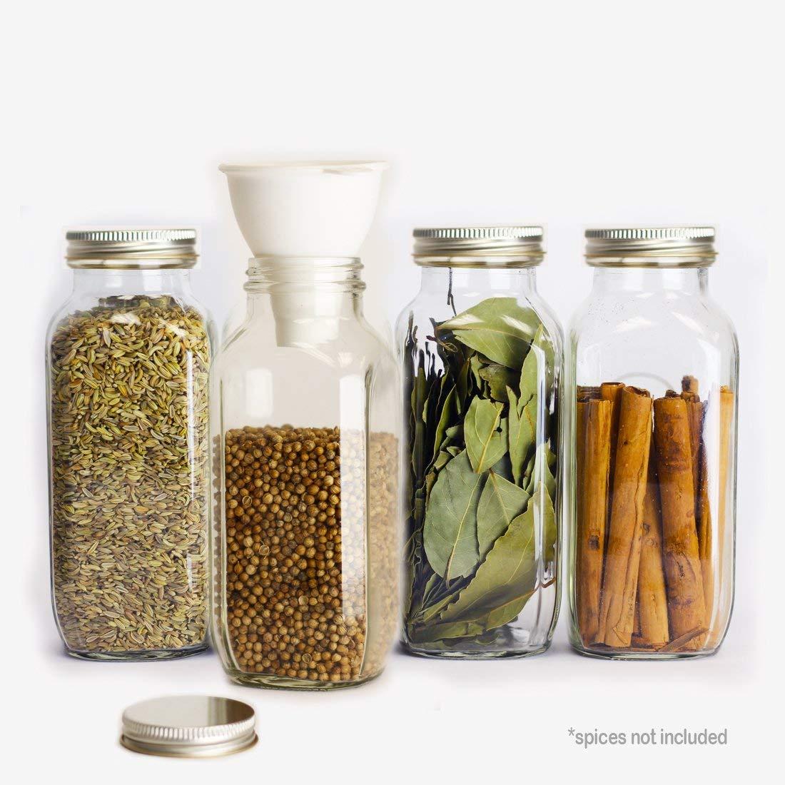 square spice jars 16 oz