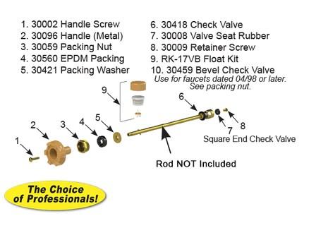 rk 17mh model 17 faucet repair kit